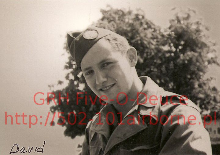 David S. Wisnia, Holocaust Survivor, H/506th PIR