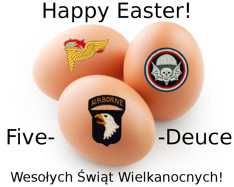 Życzenia Wielkanocne Five-O-Deuce